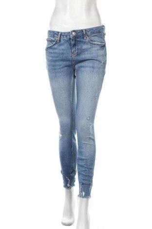 Дамски дънки Zara, Размер M, Цвят Син, Цена 29,40лв.