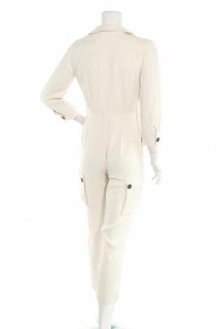 Дамски гащеризон Massimo Dutti, Размер S, Цвят Бял, Вискоза, Цена 52,47лв.