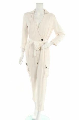 Дамски гащеризон Massimo Dutti, Размер M, Цвят Бял, Вискоза, Цена 52,47лв.