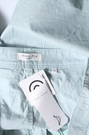 Дамски къс панталон Christian Berg, Размер XL, Цвят Син, Памук, Цена 36,75лв.