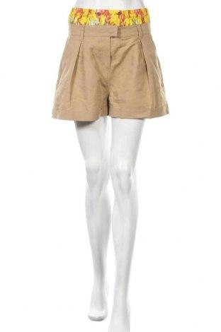 Γυναικείο κοντό παντελόνι Just Cavalli, Μέγεθος M, Χρώμα  Μπέζ, Βαμβάκι, μετάξι, Τιμή 45,28€