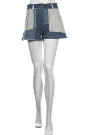Γυναικείο κοντό παντελόνι Love Moschino, Μέγεθος M, Χρώμα Μπλέ, Βαμβάκι, Τιμή 94,29€