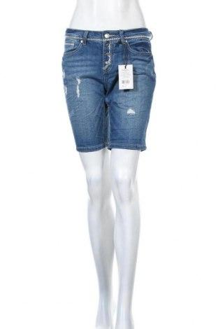 Дамски къс панталон Sublevel, Размер S, Цвят Син, 55% памук, 27% полиестер, 17% вискоза, 1% еластан, Цена 26,55лв.