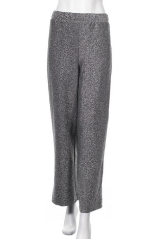 Дамски панталон Monki, Размер XS, Цвят Сребрист, 81% вискоза, 7% метални нишки, 6% полиестер, 6% еластан, Цена 25,94лв.