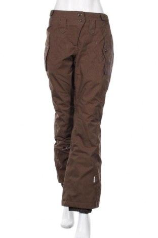 Дамски панталон за зимни спортове Wedze, Размер M, Цвят Кафяв, 60% полиамид, 40% полиестер, Цена 49,61лв.