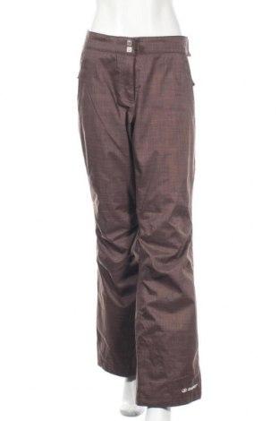 Дамски панталон за зимни спортове Ziener, Размер XL, Цвят Кафяв, 99% полиестер, 1% полиамид, Цена 27,20лв.