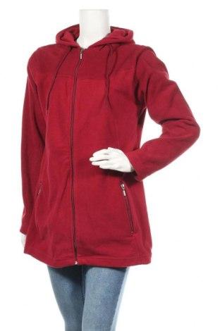 Дамски поларен суичър Elle Nor, Размер L, Цвят Червен, Полиестер, Цена 25,94лв.