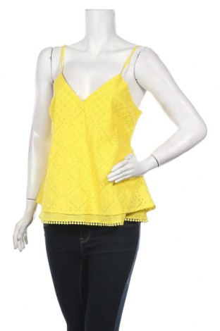 Γυναικείο αμάνικο μπλουζάκι Gaudi, Μέγεθος M, Χρώμα Κίτρινο, Βαμβάκι, Τιμή 45,36€