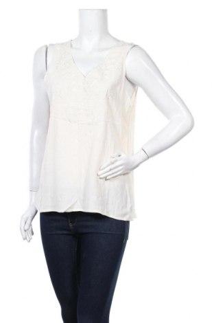 Γυναικείο αμάνικο μπλουζάκι La Morena, Μέγεθος L, Χρώμα Εκρού, Πολυεστέρας, Τιμή 5,61€