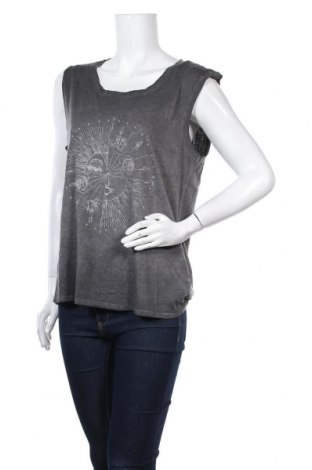 Γυναικείο αμάνικο μπλουζάκι Review, Μέγεθος M, Χρώμα Γκρί, 50% βαμβάκι, 50% μοντάλ, Τιμή 6,19€