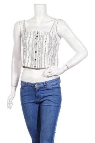 Γυναικείο αμάνικο μπλουζάκι Review, Μέγεθος M, Χρώμα Λευκό, 70% βαμβάκι, 30% λινό, Τιμή 6,19€