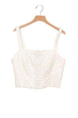 Γυναικείο αμάνικο μπλουζάκι Review, Μέγεθος S, Χρώμα Εκρού, 100% βαμβάκι, Τιμή 5,41€