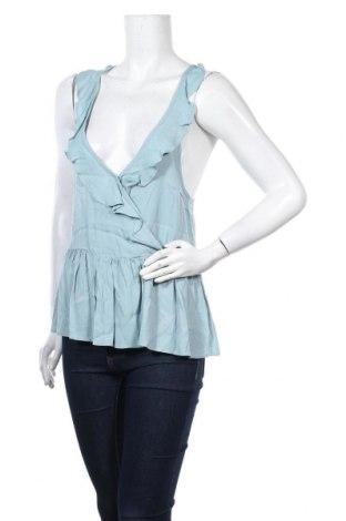 Γυναικείο αμάνικο μπλουζάκι Review, Μέγεθος S, Χρώμα Μπλέ, 100% βισκόζη, Τιμή 6,19€