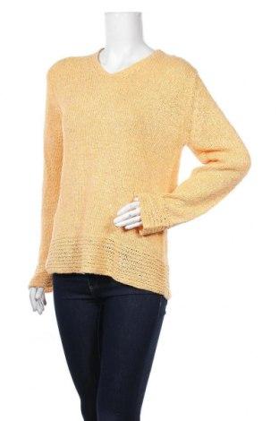 Дамски пуловер Authentic Clothing Company, Размер M, Цвят Жълт, 37% полиакрил, 32% полиамид, 31% вискоза, Цена 23,10лв.