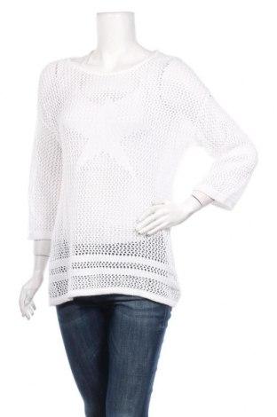Дамски пуловер Blue Motion, Размер L, Цвят Бял, 60% памук, 40% вискоза, Цена 21,95лв.