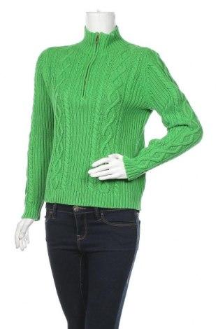 Дамски пуловер Chaps, Размер M, Цвят Зелен, Памук, Цена 14,74лв.