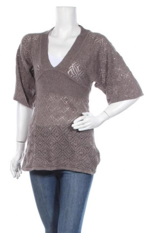 Дамски пуловер H&M, Размер S, Цвят Кафяв, 60% акрил, 20% полиамид, 10% вълна, 10% мохер, Цена 5,31лв.