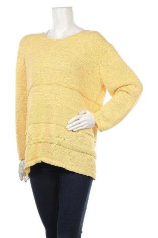 Дамски пуловер Michele Boyard, Размер XXL, Цвят Жълт, 60% полиестер, 40% памук, Цена 19,32лв.