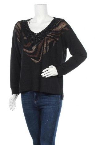 Дамски пуловер Passager, Размер M, Цвят Черен, 86% полиестер, 10% вискоза, 4% еластан, Цена 21,74лв.