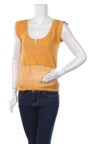Дамски пуловер Specchio Woman, Размер M, Цвят Жълт, 55% лен, 45% вискоза, Цена 11,03лв.
