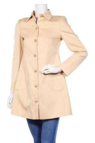 Дамски шлифер Stefanel, Размер S, Цвят Бежов, 55% памук, 45% лен, Цена 69,00лв.