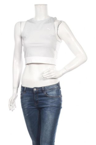 Дамски спортен топ Selena Gomez x PUMA, Размер M, Цвят Сив, 77% полиестер, 23% еластан, Цена 46,11лв.