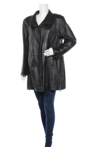 Дамско кожено палто, Размер XL, Цвят Черен, Естествена кожа, Цена 24,60лв.