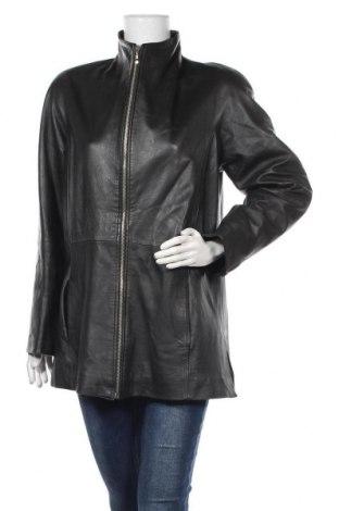 Дамско кожено яке, Размер M, Цвят Черен, Естествена кожа, Цена 17,85лв.