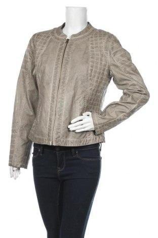 Дамско кожено яке Expresso, Размер XL, Цвят Сив, Еко кожа, Цена 48,30лв.