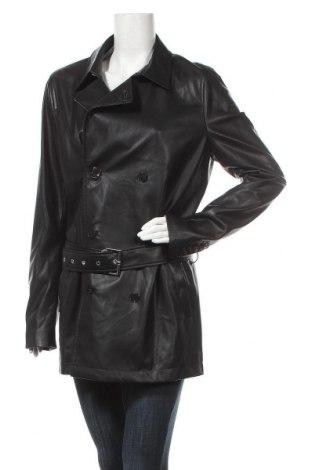 Γυναικείο δερμάτινο μπουφάν Patrizia Pepe, Μέγεθος XL, Χρώμα Μαύρο, Δερματίνη, Τιμή 98,90€