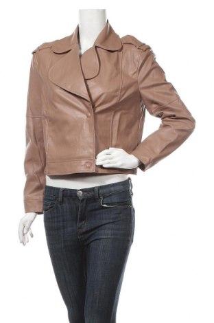 Дамско кожено яке Sisley, Размер S, Цвят Пепел от рози, Еко кожа, Цена 24,00лв.