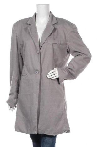 Дамско палто, Размер L, Цвят Сив, 90% полиестер, 10% еластан, Цена 16,28лв.