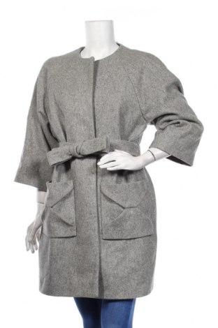 Дамско палто COS, Размер M, Цвят Сив, 80% вълна, 20% полиамид, Цена 103,50лв.