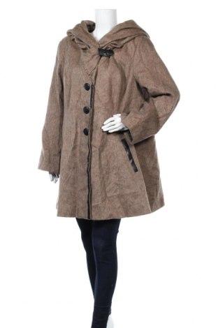 Дамско палто La Redoute, Размер XXL, Цвят Кафяв, 48% памук, 41% вълна, 11% полиестер, Цена 48,05лв.