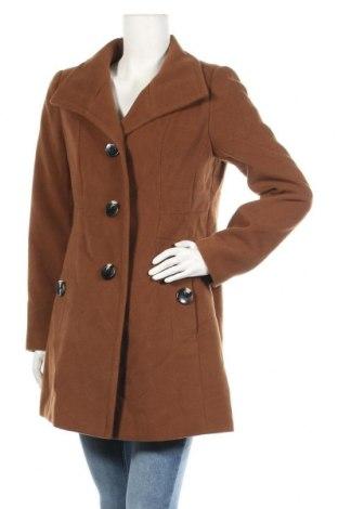 Дамско палто Michele Boyard, Размер M, Цвят Кафяв, 93% полиестер, 5% вискоза, 2% еластан, Цена 42,84лв.