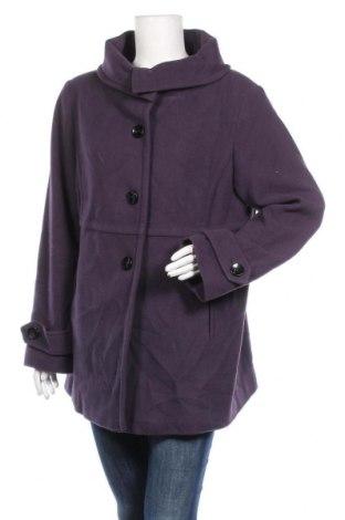 Дамско палто Michele Boyard, Размер XL, Цвят Лилав, 80% вълна, 20% полиамид, Цена 66,05лв.
