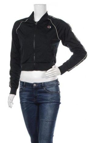 Дамско спортно горнище Champion, Размер XS, Цвят Черен, Полиестер, Цена 37,80лв.