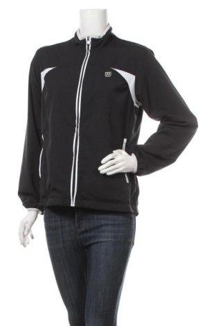 Дамско спортно яке Wilson, Размер M, Цвят Черен, Полиестер, Цена 35,91лв.
