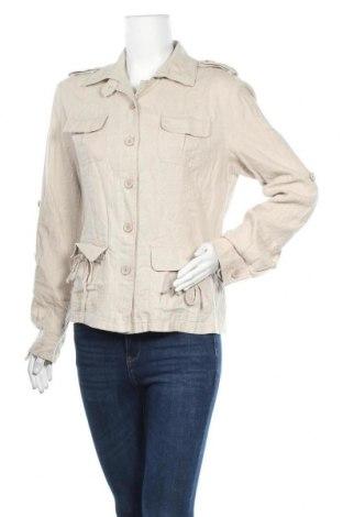 Дамско яке, Размер S, Цвят Бежов, Лен, Цена 25,73лв.