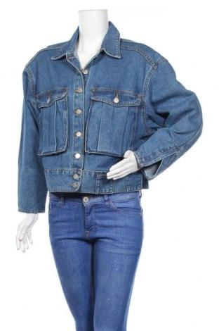 Дамско яке Boohoo, Размер M, Цвят Син, 95% памук, 5% полиестер, Цена 35,91лв.