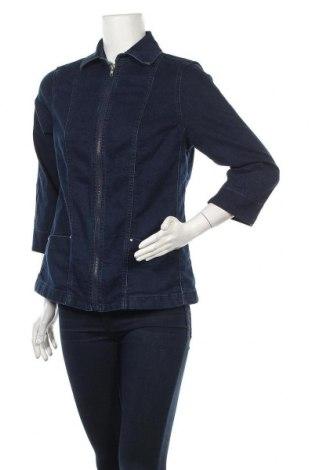 Дамско яке Collection L, Размер M, Цвят Син, 81% памук, 17% полиестер, 2% еластан, Цена 37,91лв.