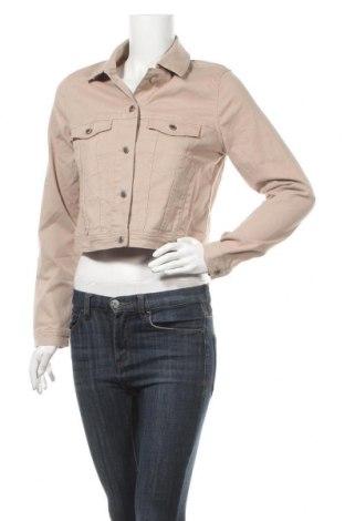Дамско яке H&M Divided, Размер L, Цвят Бежов, 98% памук, 2% еластан, Цена 46,41лв.