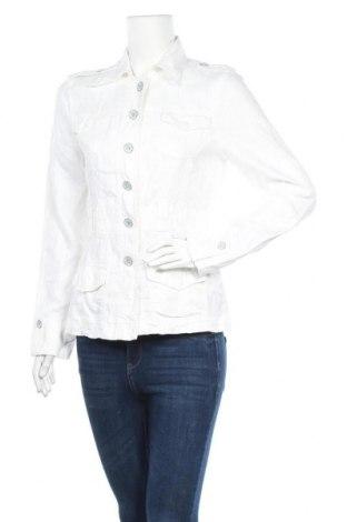 Дамско яке Tom Tailor, Размер S, Цвят Бял, Лен, Цена 35,28лв.