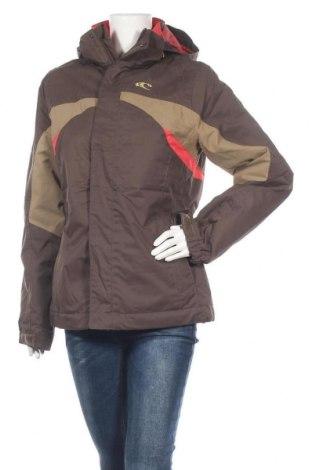 Дамско яке за зимни спортове O'neill, Размер L, Цвят Кафяв, Полиестер, Цена 69,62лв.