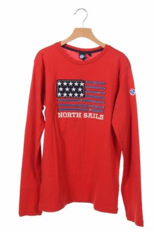 Детска блуза North Sails, Размер 14-15y/ 168-170 см, Цвят Червен, Памук, Цена 47,88лв.