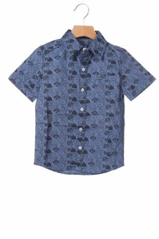 Детска риза Gaudi, Размер 3-4y/ 104-110 см, Цвят Син, 97% памук, 3% еластан, Цена 26,55лв.