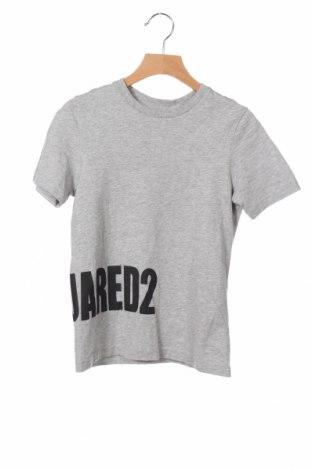 Παιδικό μπλουζάκι Dsquared2, Μέγεθος 7-8y/ 128-134 εκ., Χρώμα Γκρί, Βαμβάκι, Τιμή 27,60€