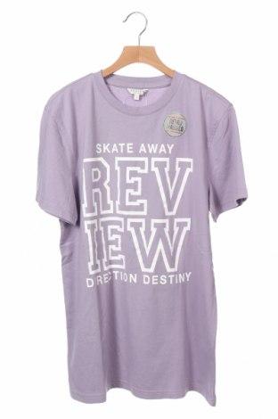 Παιδικό μπλουζάκι Review, Μέγεθος 15-18y/ 170-176 εκ., Χρώμα Βιολετί, Βαμβάκι, Τιμή 7,22€
