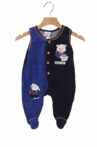 Dětská kombinéza , Velikost 3-6m/ 62-68 cm, Barva Modrá, 76% bavlna, 24% polyester, Cena  239,00Kč