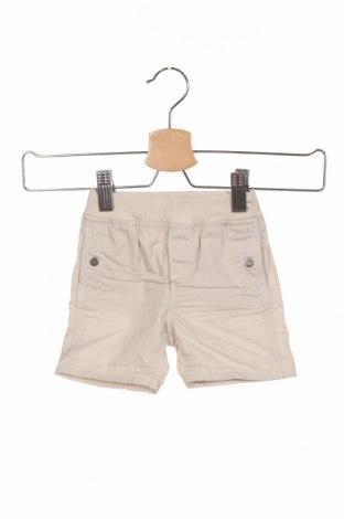 Παιδικό κοντό παντελόνι Obaibi, Μέγεθος 3-6m/ 62-68 εκ., Χρώμα  Μπέζ, Βαμβάκι, Τιμή 11,69€